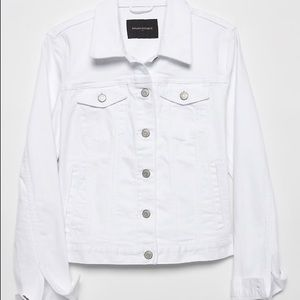 Banana Republic White S White Jean jacket $100